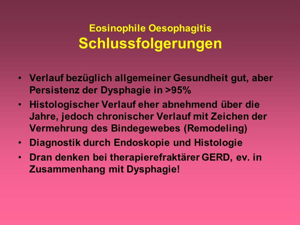 Eosinophile Oesophagitis Schlussfolgerungen