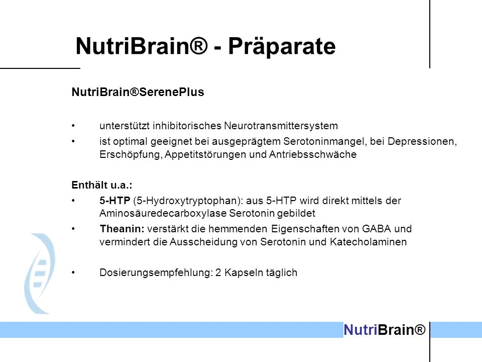 NutriBrain® - Präparate