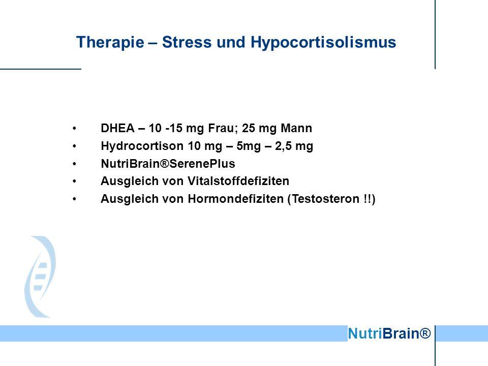 Therapie – Stress und Hypocortisolismus