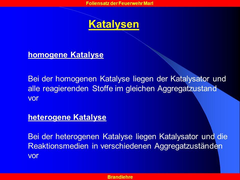 Katalysen homogene Katalyse
