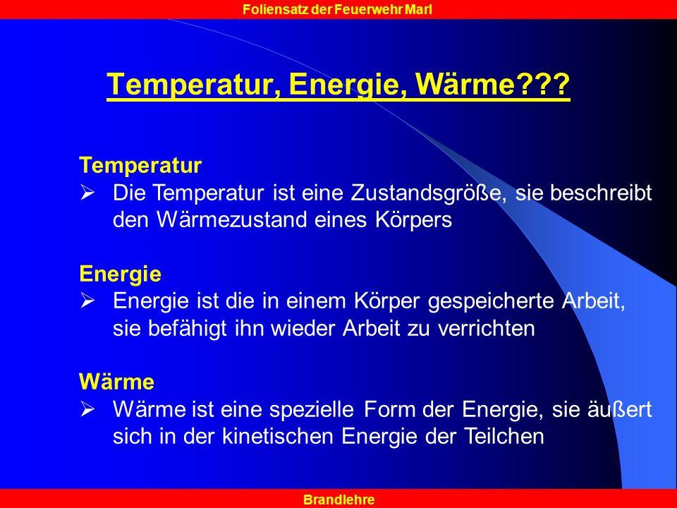 Temperatur, Energie, Wärme