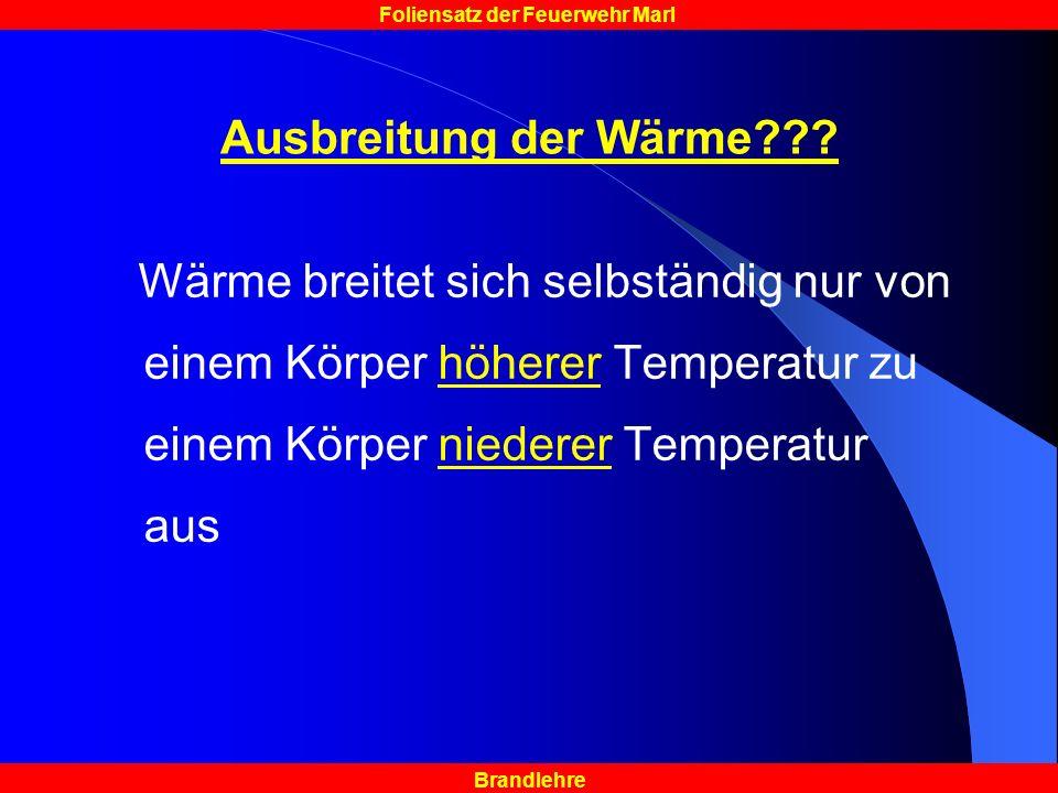 Ausbreitung der Wärme .