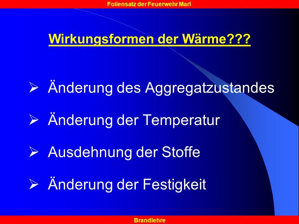 Wirkungsformen der Wärme