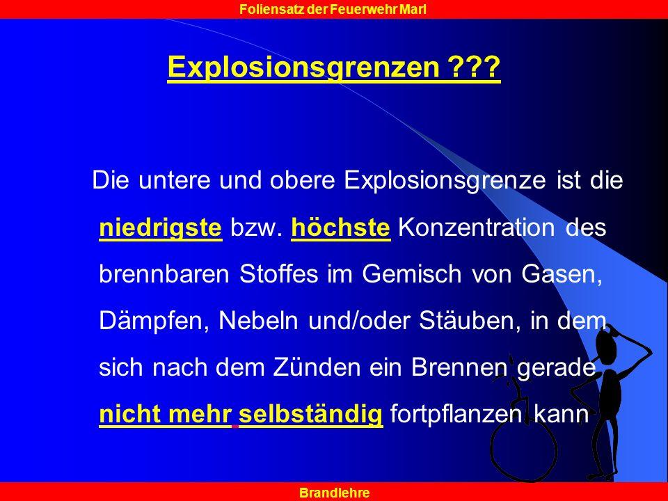 Explosionsgrenzen