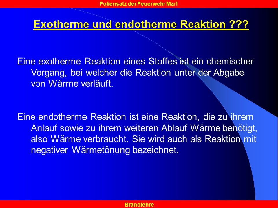 Exotherme und endotherme Reaktion