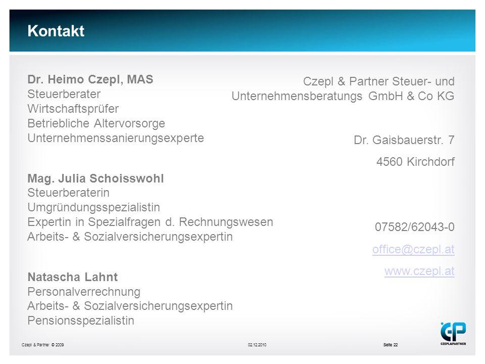 Kontakt Dr. Heimo Czepl, MAS Steuerberater Wirtschaftsprüfer