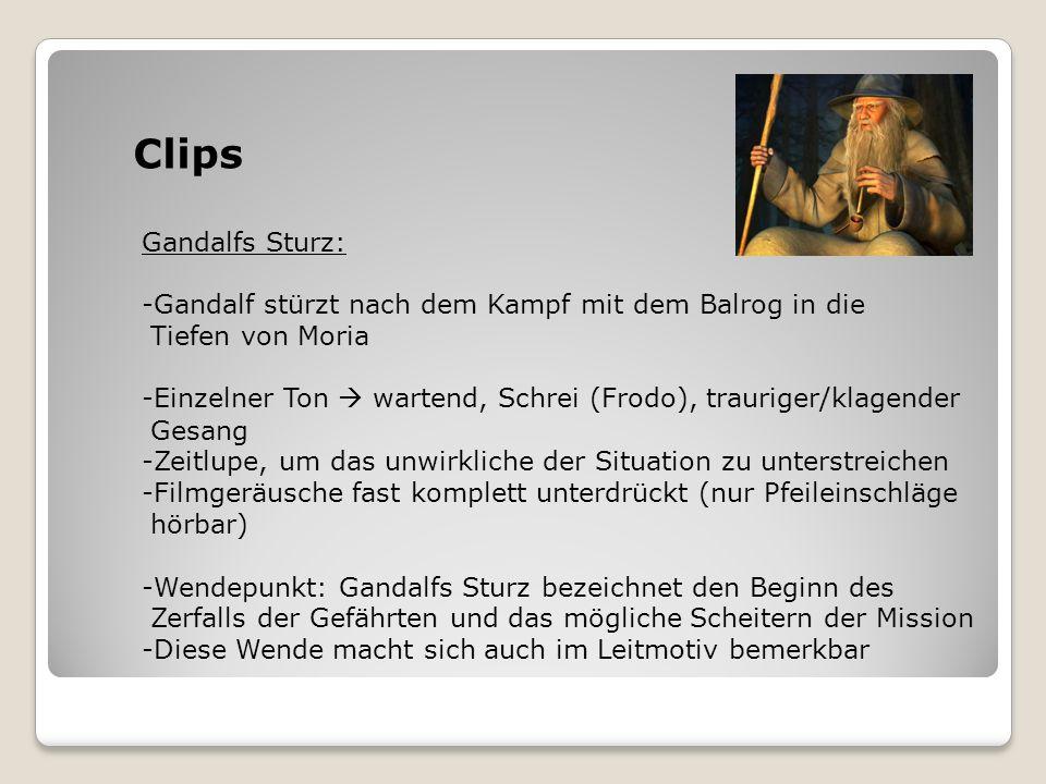 Clips Gandalfs Sturz: Gandalf stürzt nach dem Kampf mit dem Balrog in die. Tiefen von Moria.