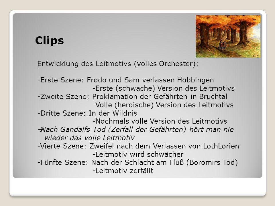 Clips Entwicklung des Leitmotivs (volles Orchester):
