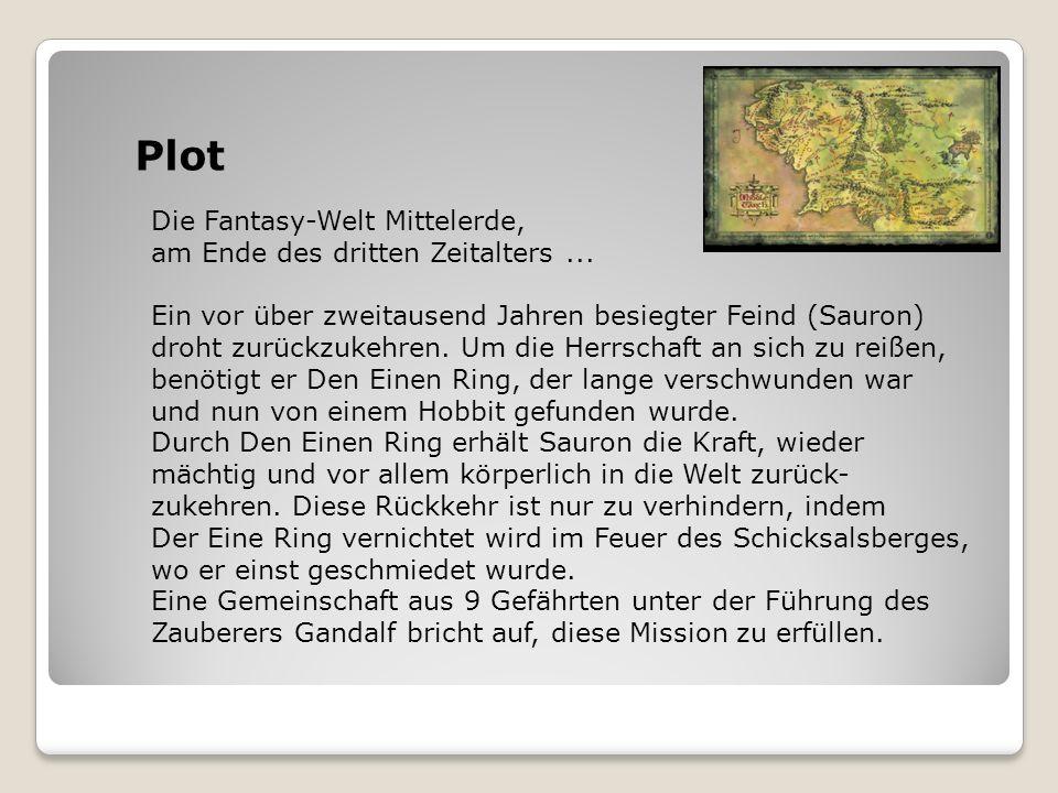 Plot Die Fantasy-Welt Mittelerde, am Ende des dritten Zeitalters ...