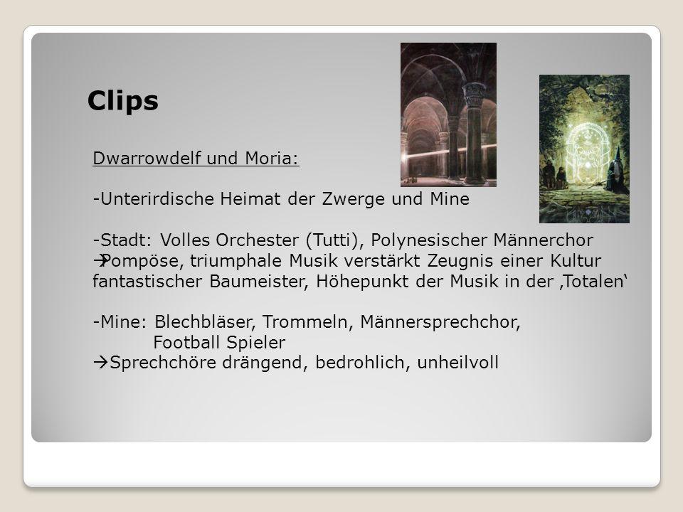 Clips Dwarrowdelf und Moria: Unterirdische Heimat der Zwerge und Mine