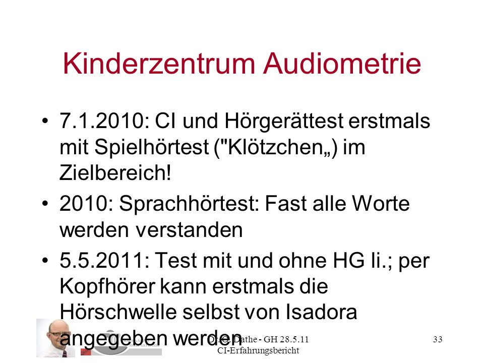 Kinderzentrum Audiometrie