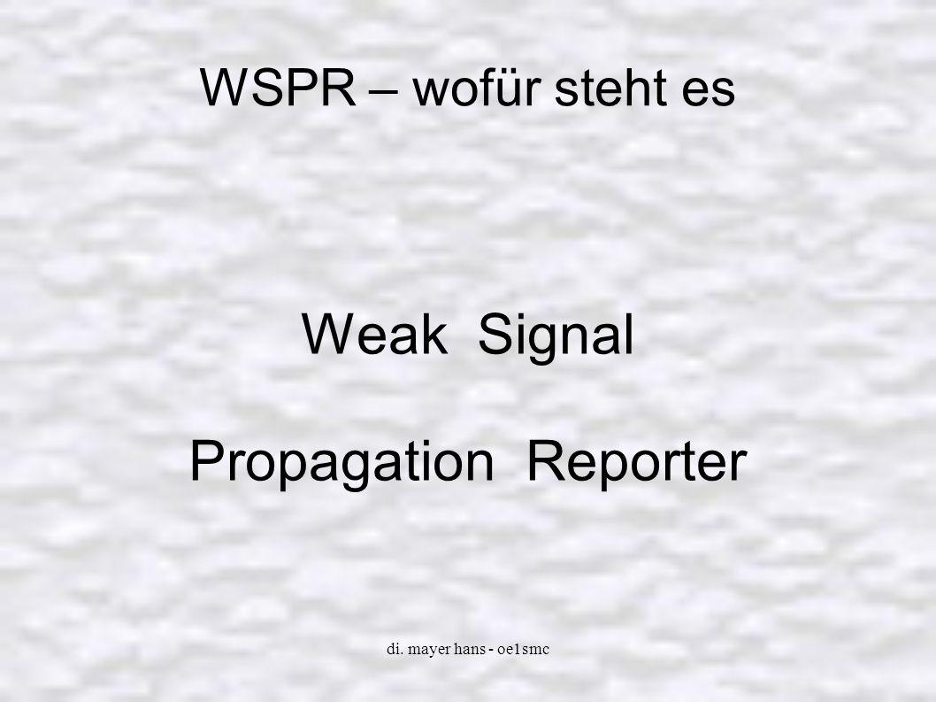Weak Signal Propagation Reporter