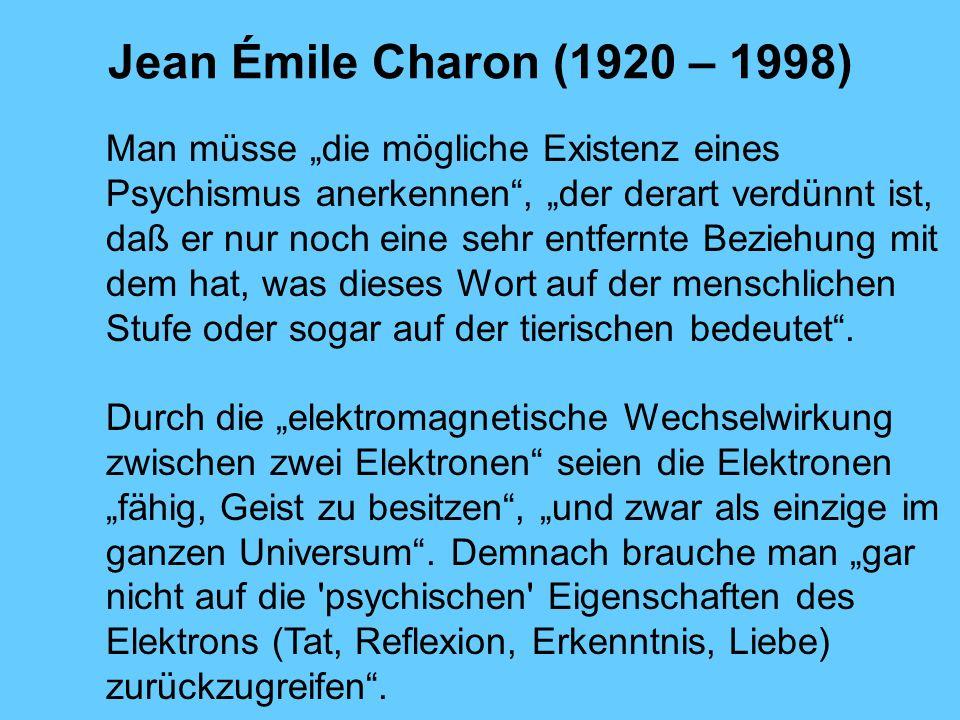Jean Émile Charon (1920 – 1998)