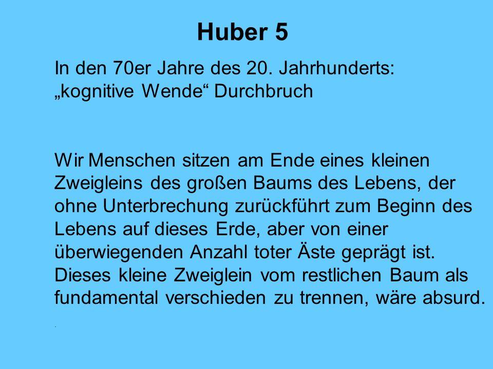 """Huber 5 In den 70er Jahre des 20. Jahrhunderts: """"kognitive Wende Durchbruch."""