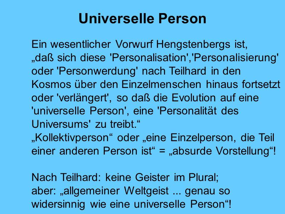 Universelle Person Ein wesentlicher Vorwurf Hengstenbergs ist,