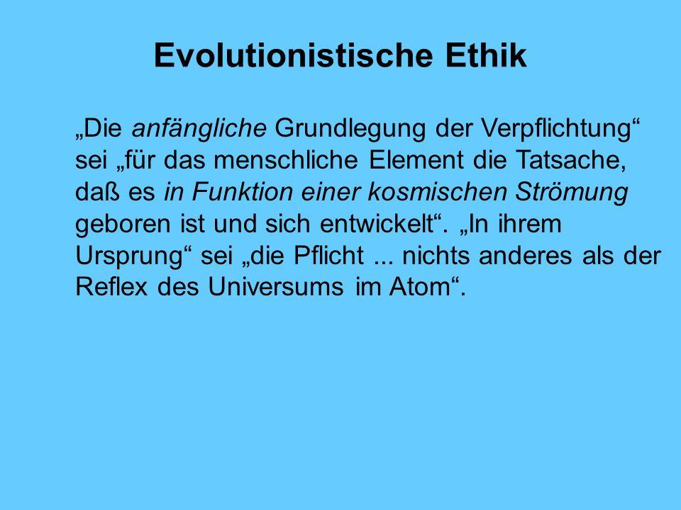 Evolutionistische Ethik