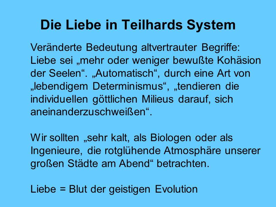 Die Liebe in Teilhards System