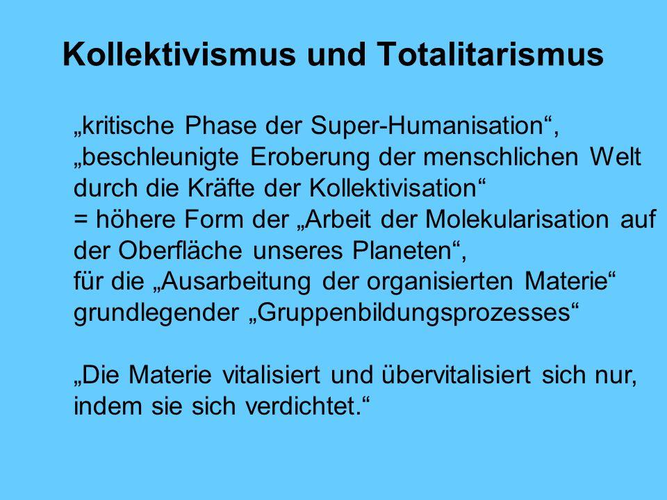 Kollektivismus und Totalitarismus