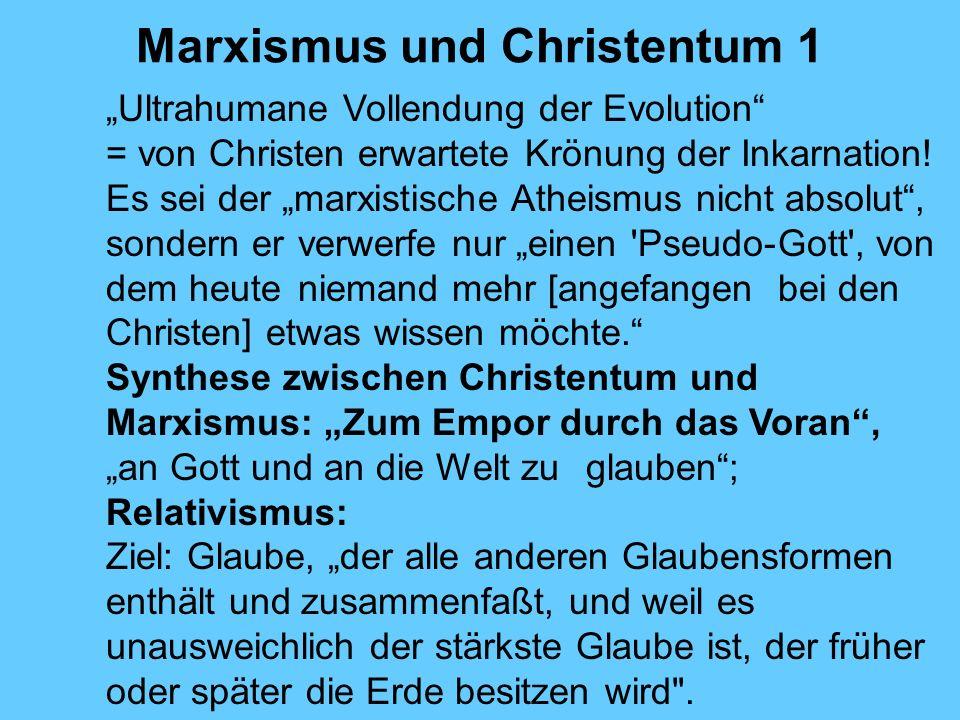 Marxismus und Christentum 1