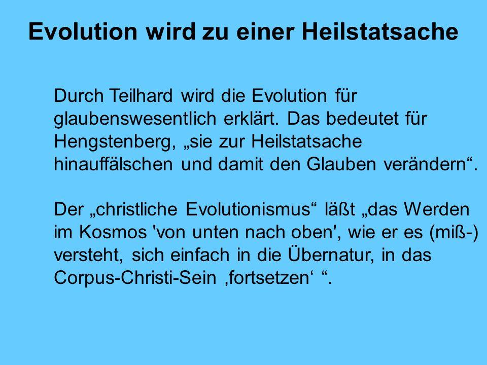 Evolution wird zu einer Heilstatsache