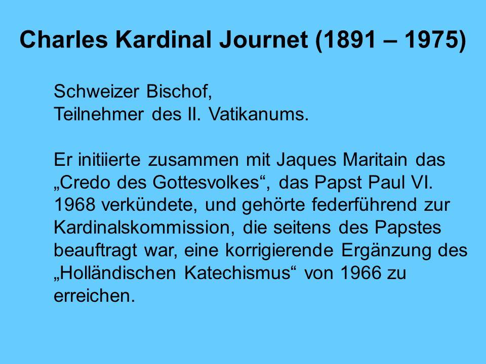 Charles Kardinal Journet (1891 – 1975)