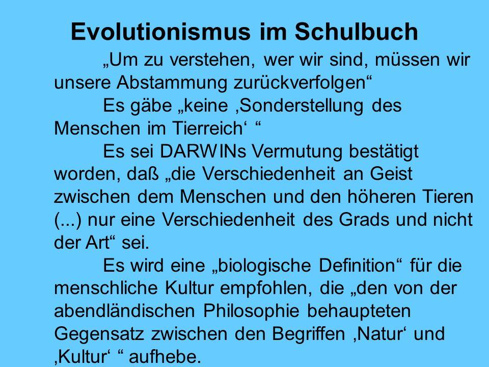 Evolutionismus im Schulbuch