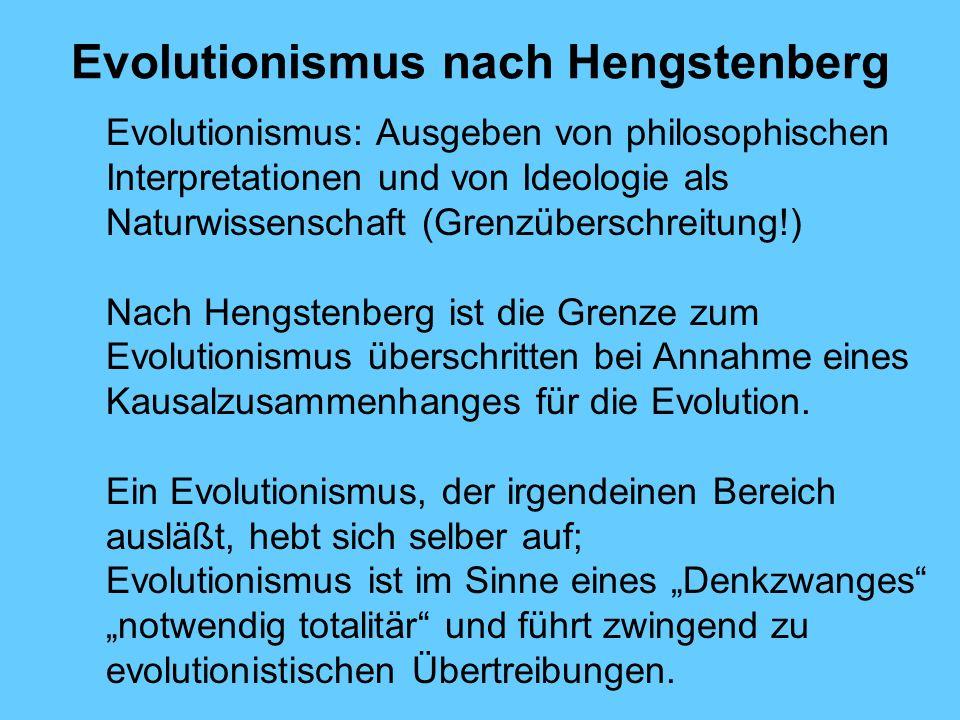 Evolutionismus nach Hengstenberg
