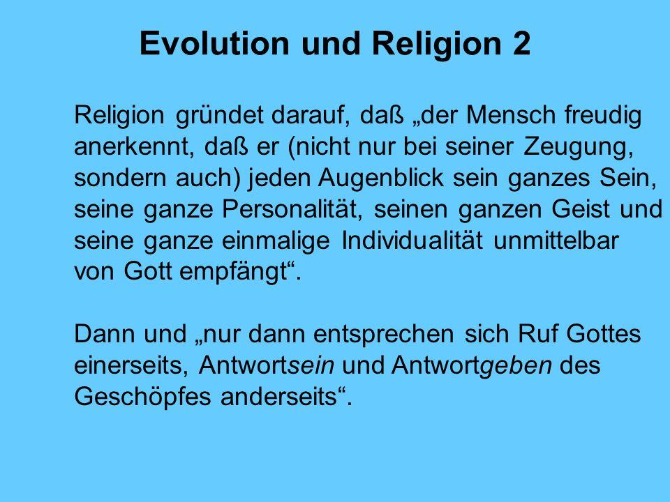 Evolution und Religion 2