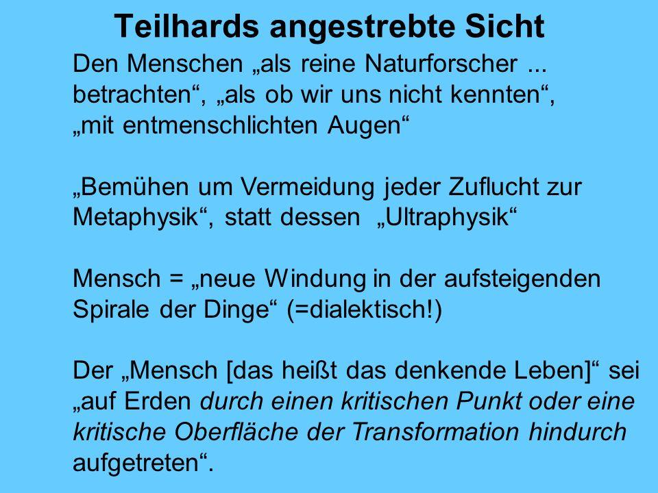 Teilhards angestrebte Sicht