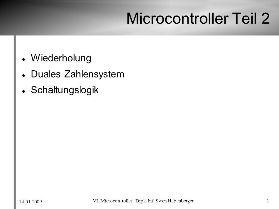 VL Microcontroller - Dipl.-Inf. Swen Habenberger
