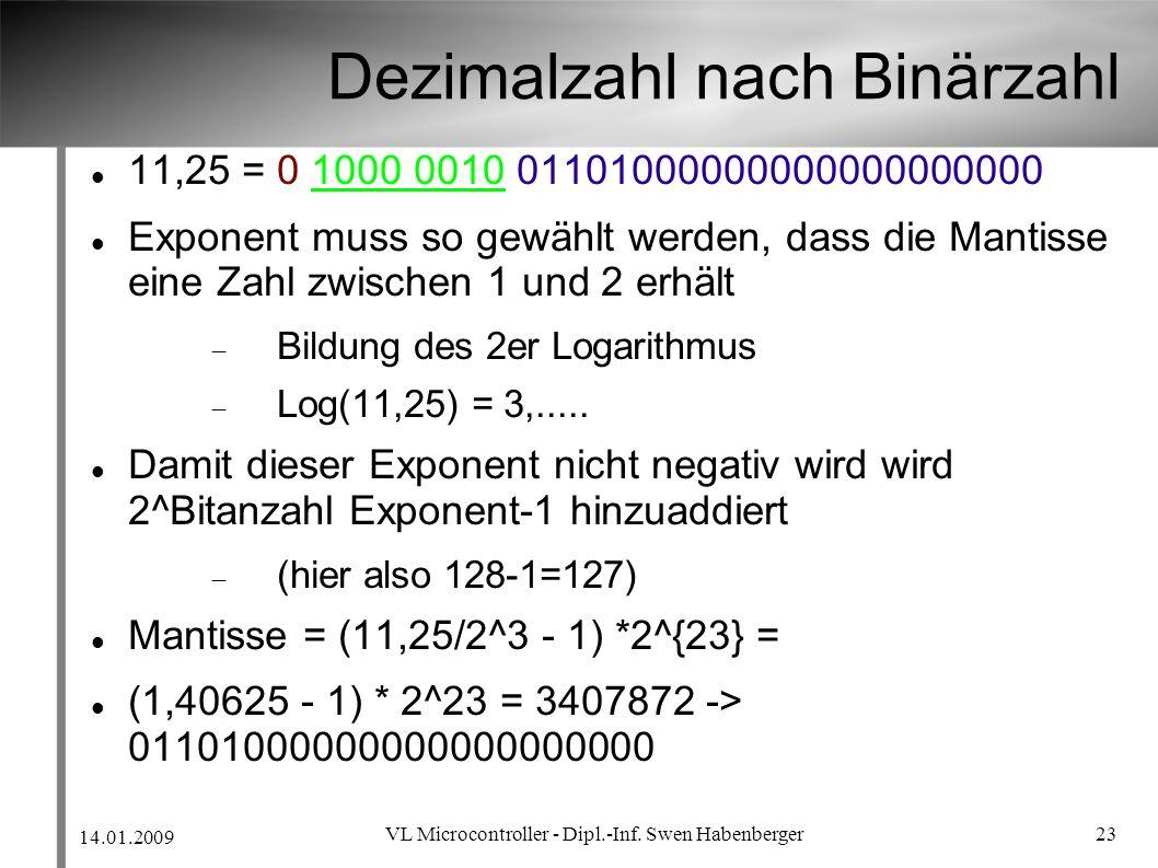 Dezimalzahl nach Binärzahl
