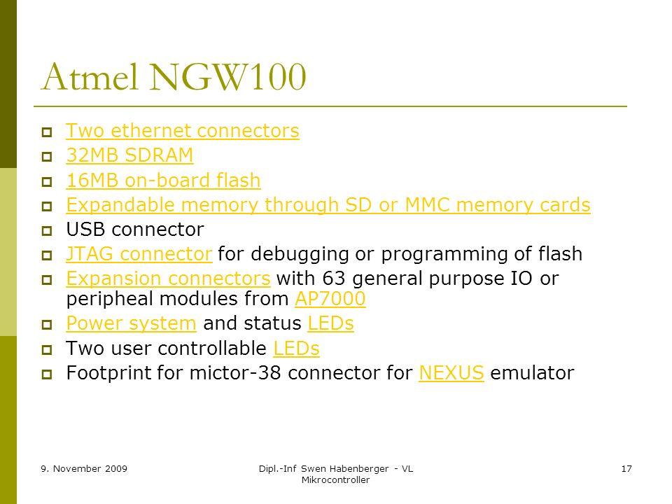 Dipl.-Inf Swen Habenberger - VL Mikrocontroller