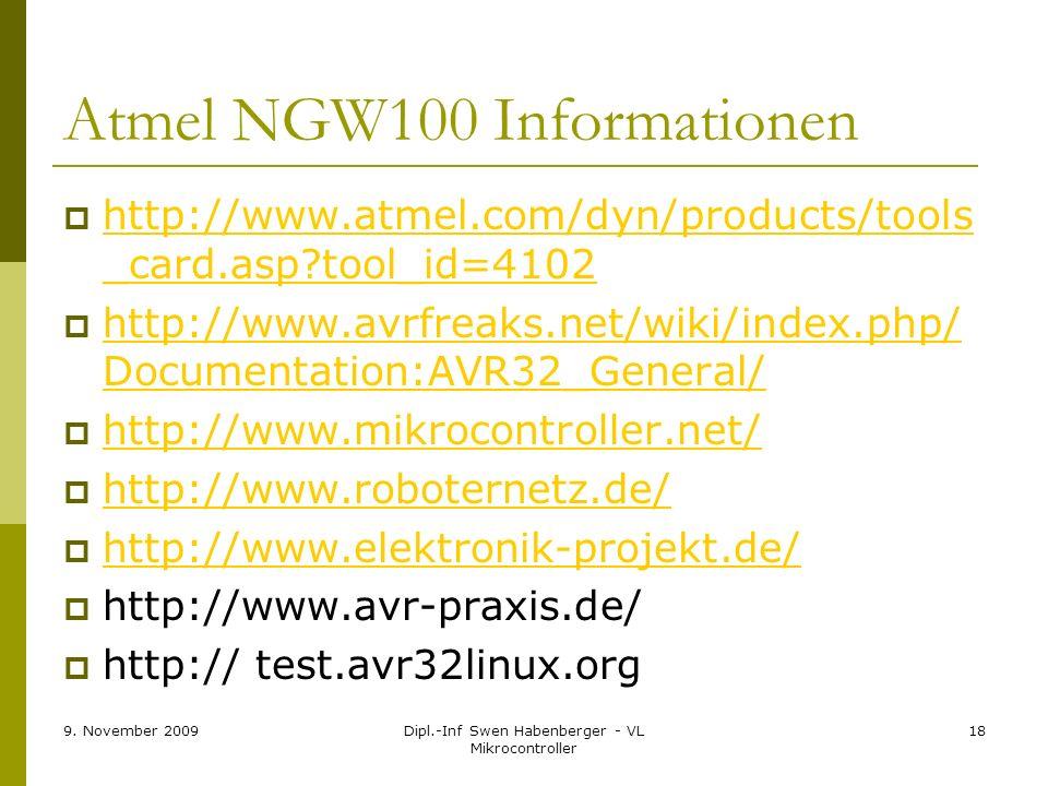 Atmel NGW100 Informationen