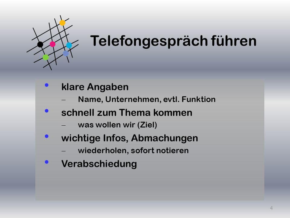 Telefongespräch führen