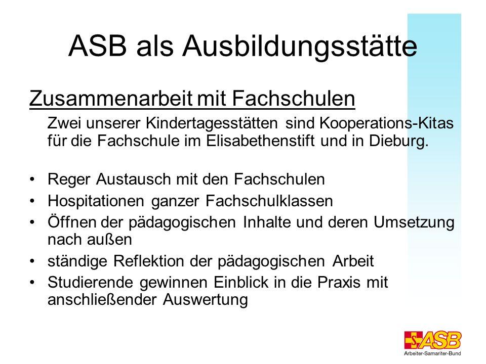 ASB als Ausbildungsstätte