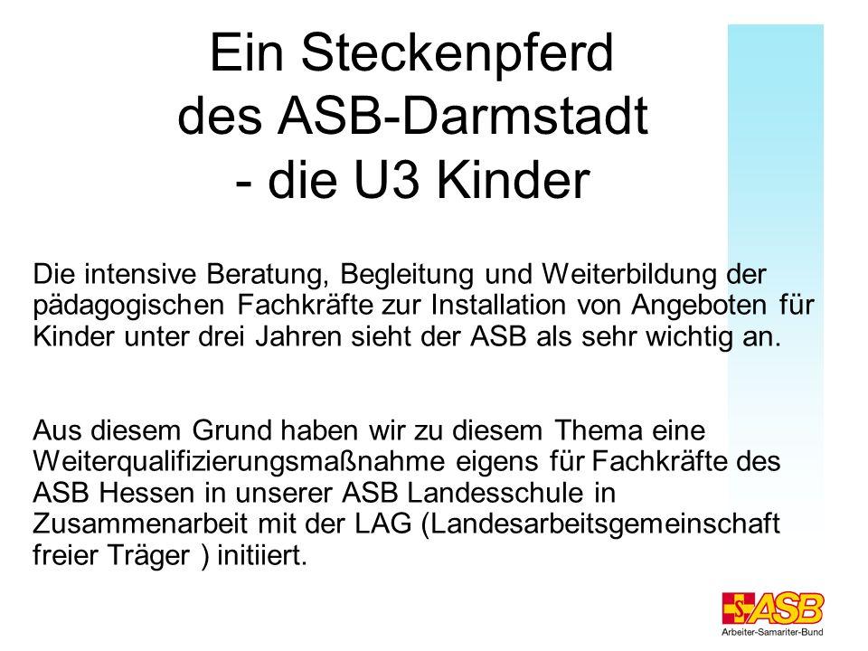 Ein Steckenpferd des ASB-Darmstadt - die U3 Kinder