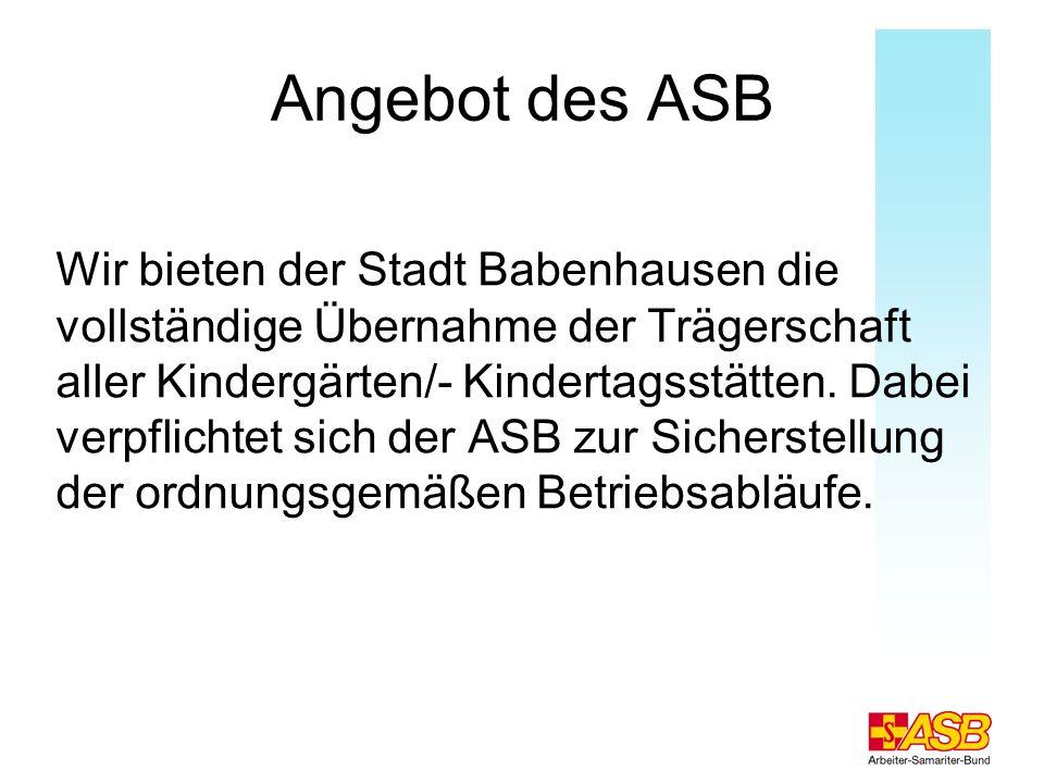 Angebot des ASB