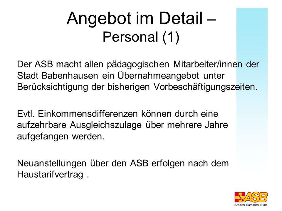 Angebot im Detail – Personal (1)