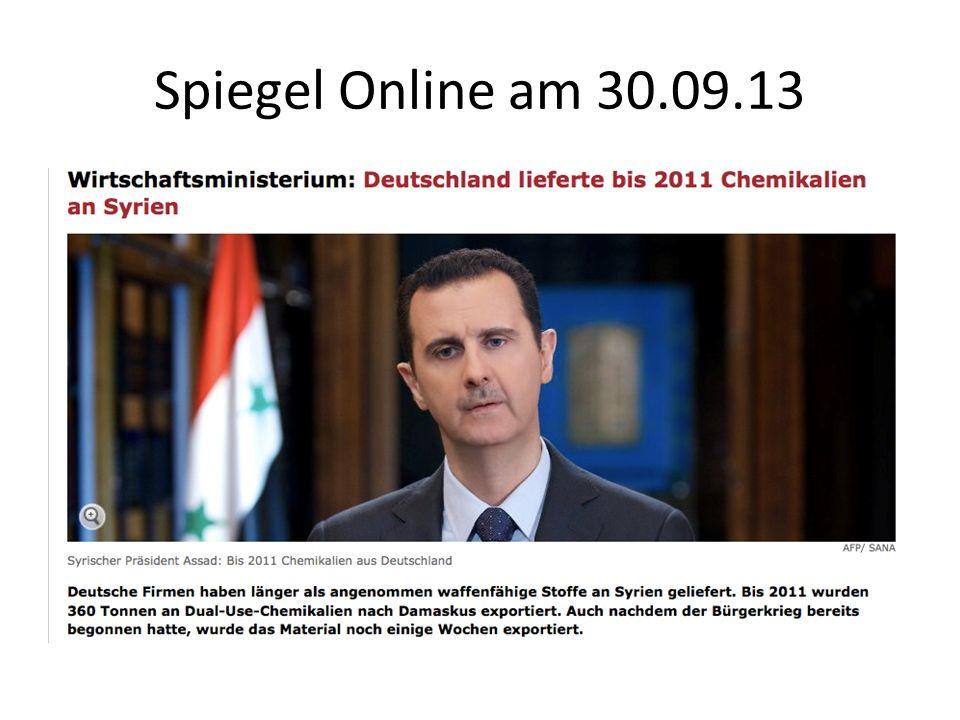 Spiegel Online am 30.09.13