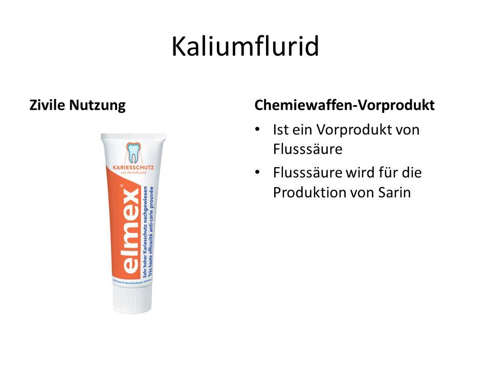 Kaliumflurid Zivile Nutzung Chemiewaffen-Vorprodukt