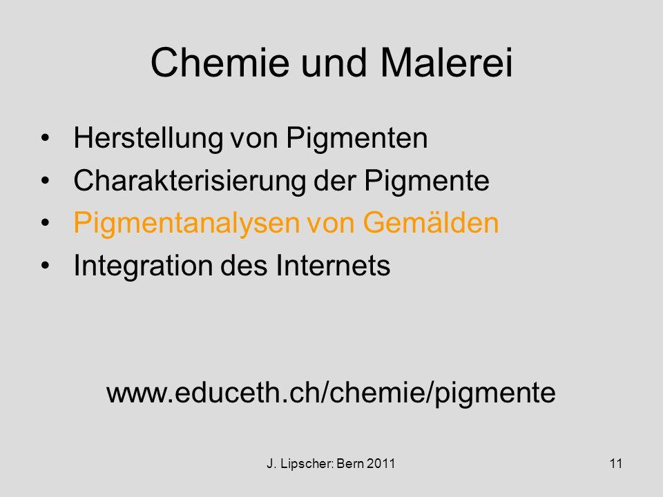 Chemie und Malerei Herstellung von Pigmenten