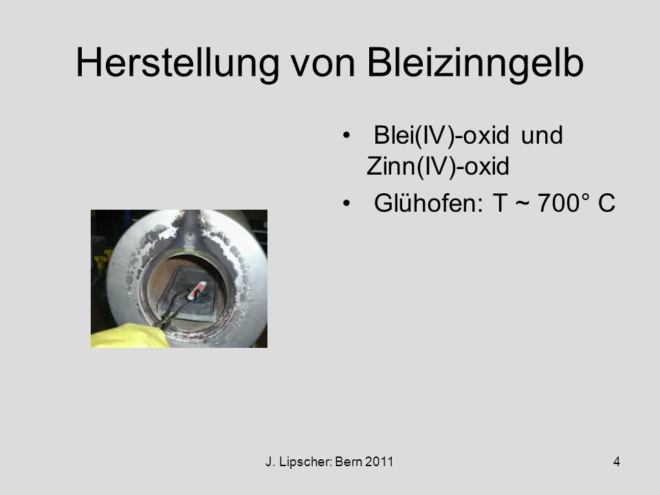 Herstellung von Bleizinngelb