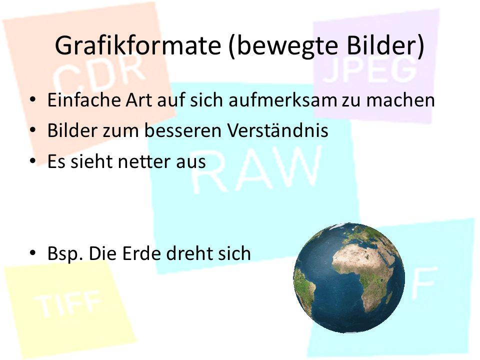 Grafikformate (bewegte Bilder)