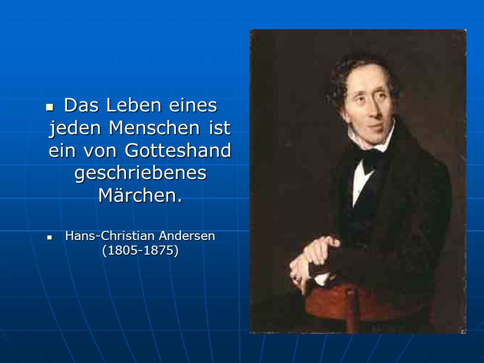 Hans-Christian Andersen (1805-1875)