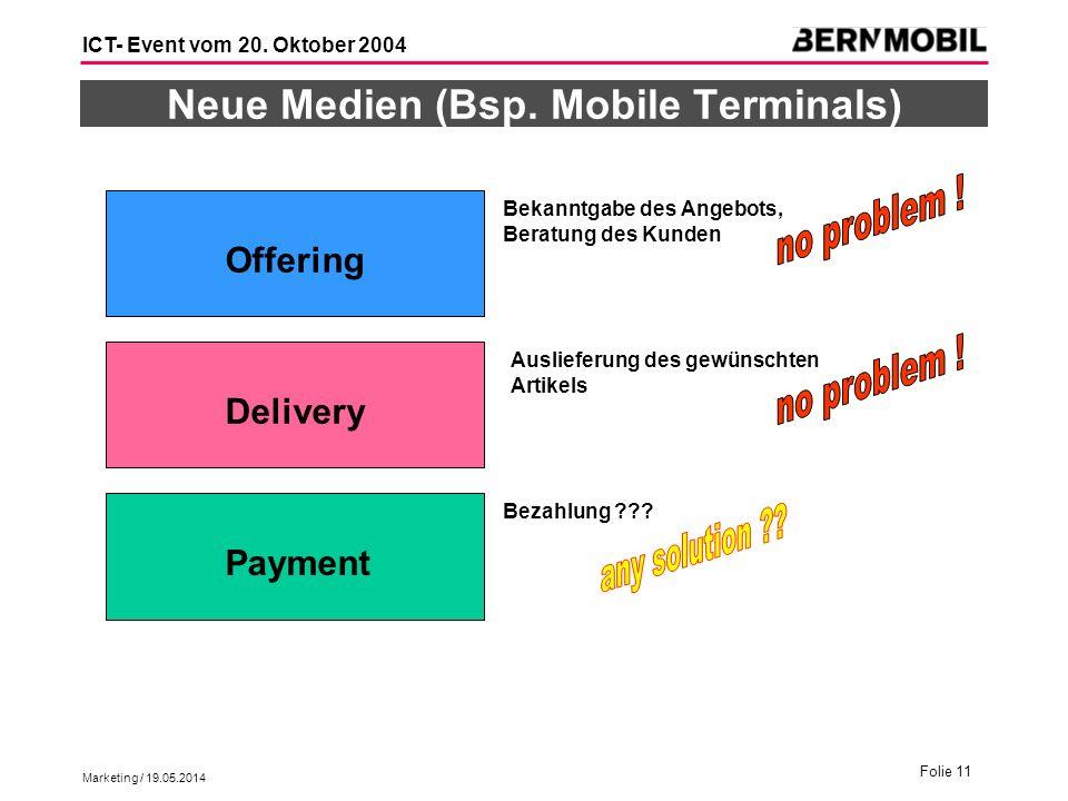Neue Medien (Bsp. Mobile Terminals)