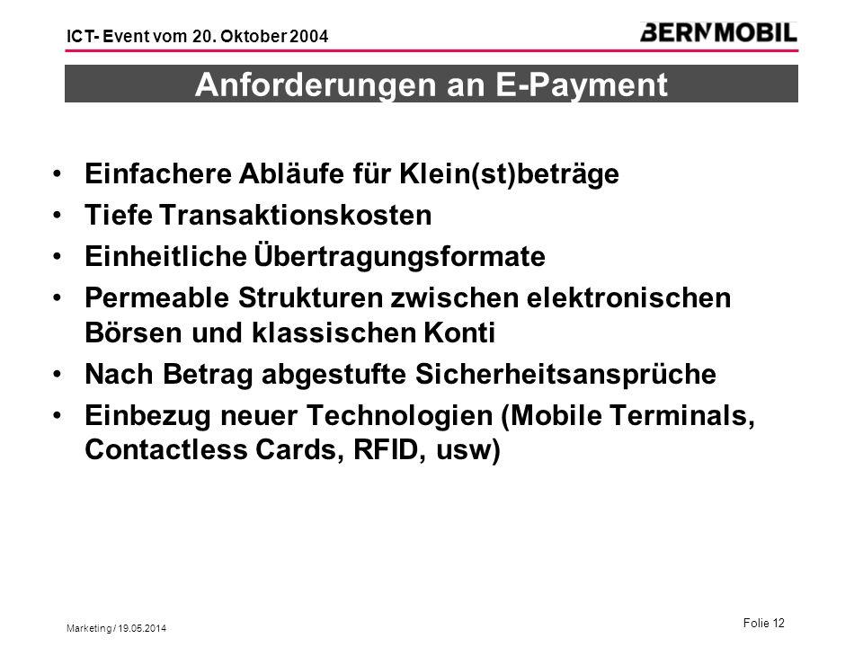 Anforderungen an E-Payment