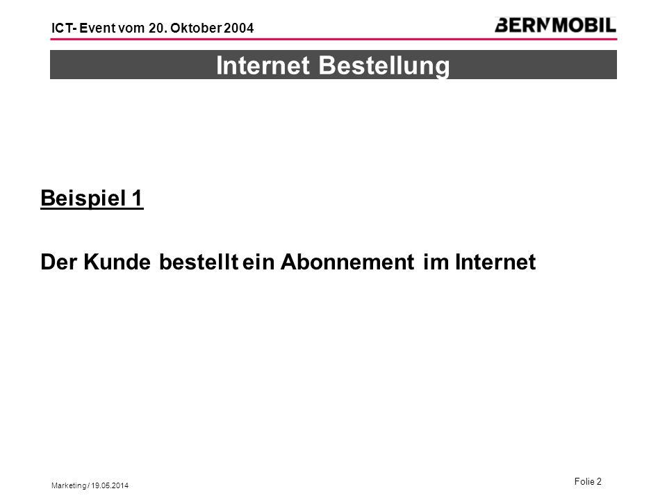 Internet Bestellung Beispiel 1