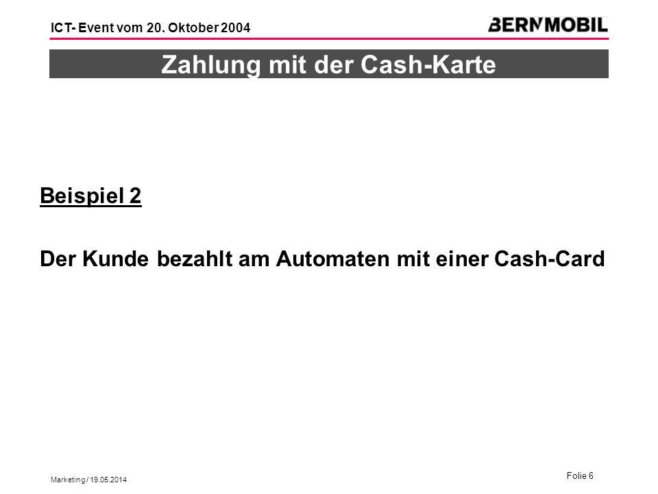 Zahlung mit der Cash-Karte