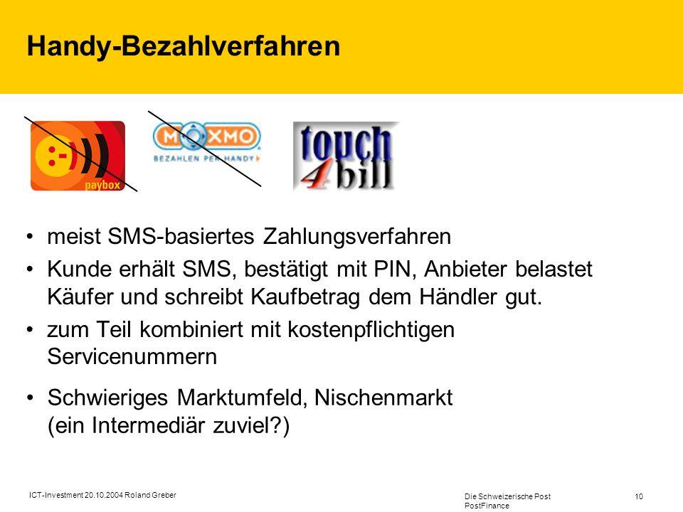 Handy-Bezahlverfahren