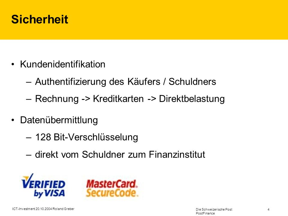 Sicherheit Kundenidentifikation